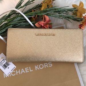 NEW💥MICHAEL KORS Leather Slim Bifold Wallet